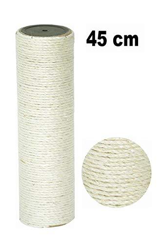 nanook Sisalstamm Ersatzstamm für Kratzbäume - Verschiedene Längen - Durchmesser 9 cm Ø für Gewinde M8 - Länge 45 cm -