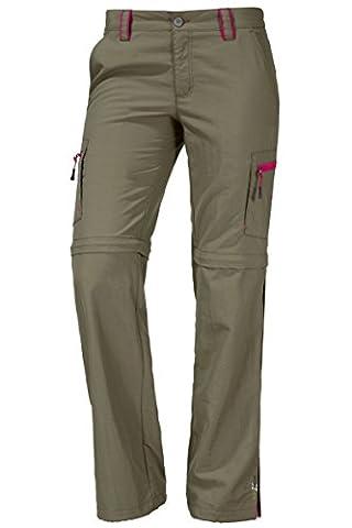 OCK Damen Zipphose, dunkelgrün, 84, 171093