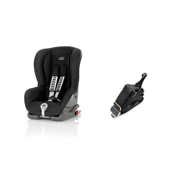 Britax Römer DUO PLUS Group 1 (9-18kg) Car Seat & DUO PLUS Top Tether Kit - Cosmos Black Britax Römer This versatile car seat can be installed with the 3-point seat belt or ISOFIX and Top Tether (Top Tether Included) Comfort without compromise - deep, padded side wings and multi-position recline Pivot link system to reduce forward movement in the event of an accident 1