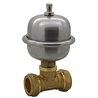 Stop Noisy Pipes for Baths Taps Basins Toilets Prevent Water Hammer Banging pipes Arrester Water Shock Preventer Thumping Pipes 2 x 22mm Compression Tee Easy Fit