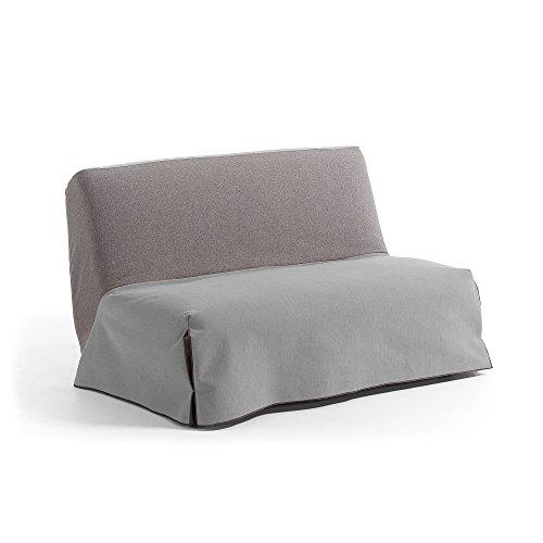 Kavehome Sofá cama 140 Jessa, gris y gris claro