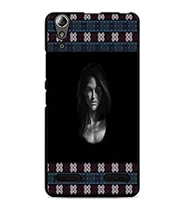 PrintDhaba Lady Face D-3263 Back Case Cover for LENOVO A6000 PLUS (Multi-Coloured)