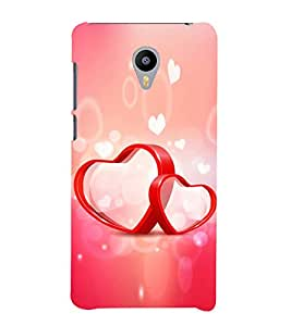 Fuson Designer Back Case Cover for Meizu M3 Note :: Meizu Note 3 (Love Love Hearts Infactuation Togather In Relationship)
