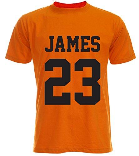 PALLAS Men's James Basketball Sport T-Shirt Orange