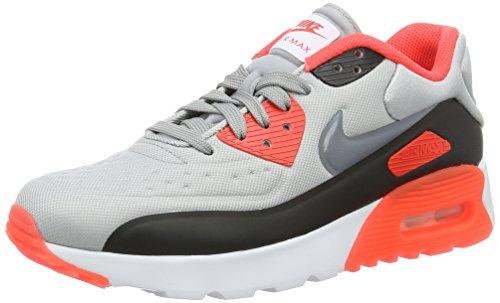 Nike Unisex-Kinder Air Max 90 Ultra Se (GS) Low-Top, Grau (Wolf Grey/Cool Grey-Bright Crimson-Black), 36.5 EU (Nike Air Max Jungen, Größe 2)