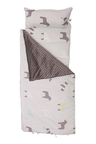 H.B.YE Sac de Couchage Coton+Velours Impression Oreille Nid d'ange pour enfant bébé en bas âge sieste maternelle préscolaire tapis (Cheval, 118 x 52 cm)