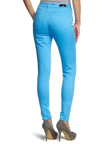 VERO MODA Damen Hose 10074142 WONDER COLOR DENIM JEGGING Skinny Slim Fit (Röhre) Normaler Bund Blau (AZURE BLUE)