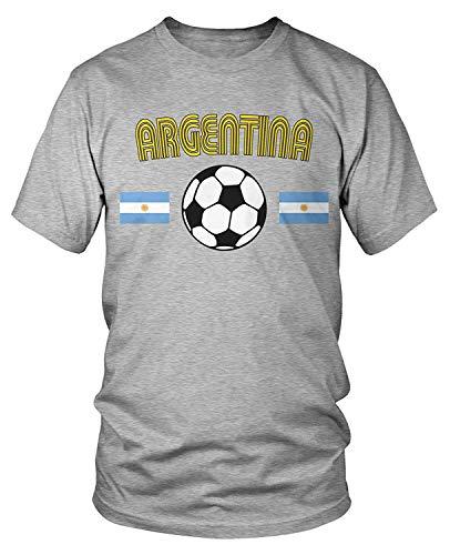 Men's Argentina Soccer, Football, Argentine Flags T-Shirt XL (Brasilien-flag Shirt)