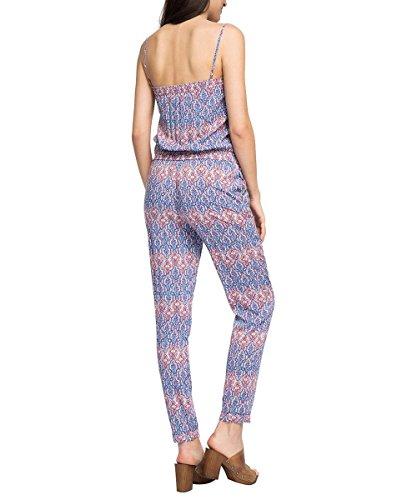 ESPRIT Damen Jumpsuits 056EE1L009-mit Allover-Druck, Mehrfarbig (Grey Blue 420), 38 - 2