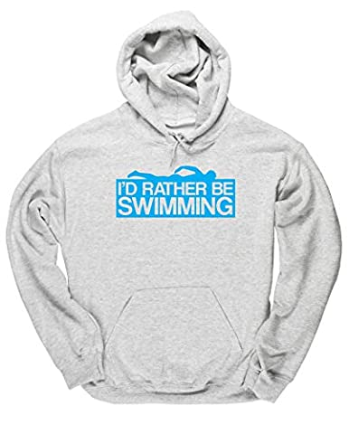 HippoWarehouse I'd Rather Be Swimming unisex Hoodie hooded