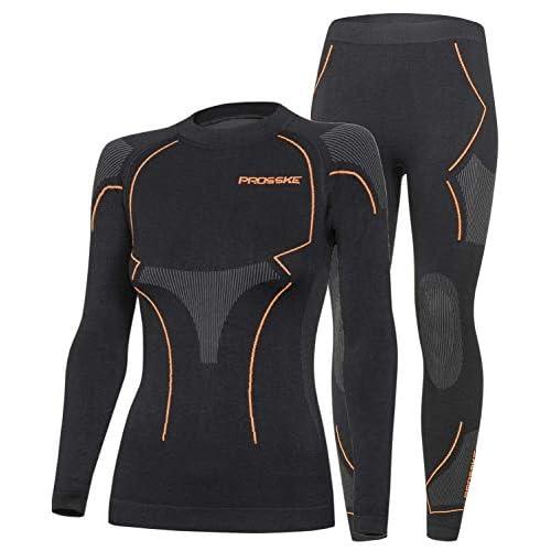 41t%2Bet8Cl0L. SS500  - Prosske Women's Functional Undergarments Set Xtreme Thermal Ski Underwear Ski Undershirt