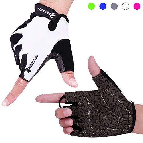 Drucken Fingerlose Handschuhe (BOILDEG Fahrradhandschuhe Herren Damen Halbfinger Radsporthandschuhe für MTB)