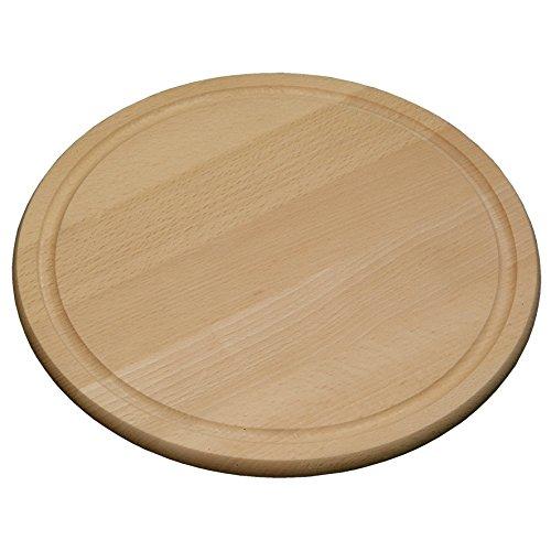 Kesper Fleischteller, rund, Holzteller, Küchenteller, aus FSC®-Buche, Höhe: 15 mm, Durchmesser: 300 mm