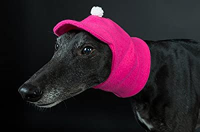 Whippet, Greyhound AND SMALL DOG hat made from fleece two sites color by DOGANDHOME