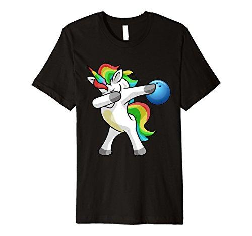 Sanftes Einhorn Bowling T-Shirt Funny DAB Geschenk Shirt -