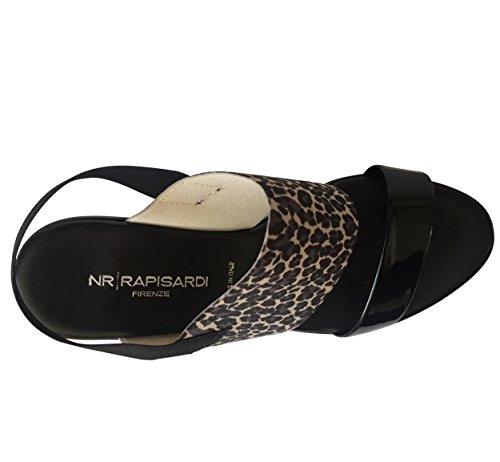 NR Rapisardi ,  Damen Keilsohle Leopardenmuster