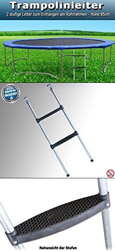 Trampolinleiter 85 cm + 97 cm Einstiegsleiter Leiter Trampolin Gartentrampolin (85cm) - 3