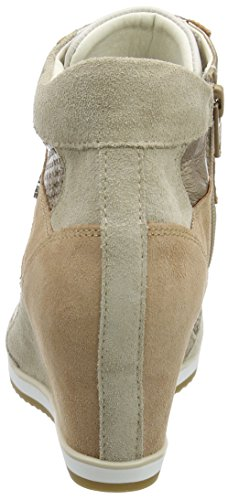 Geox D Illusion B, Sneakers Hautes Femme Beige (Lt Taupe/Champagnech6B5)