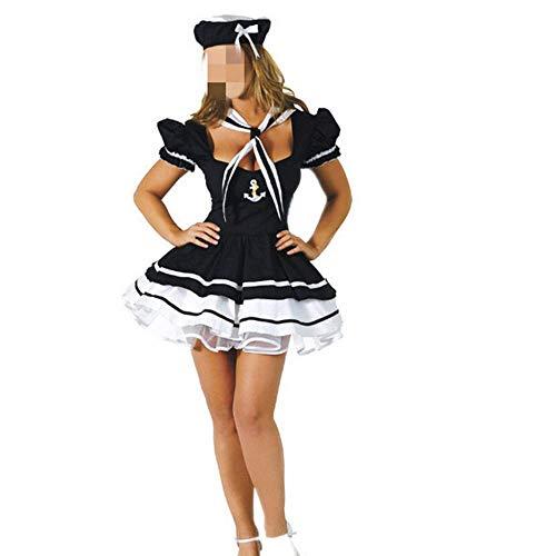 FJJBHSD Dessous-Sets Matrosenanzug Spiel Uniform Versuchung Halloween DS Show Kostüm blau Einheitsgröße