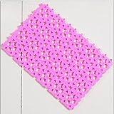 YOKIRIN® Plastic Kann spleißenden Antirutsch Badematte für Wanne und Duschkabine 30X20 cm- Pink
