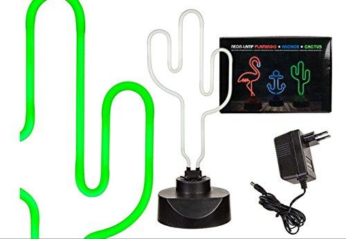 Neon-Leuchte ''Kaktus''   Tischleuchte   Lampe   Partylampe   Wohnaccessoire   Geschenkidee für Freunde   Preis am Stiel® - Tischleuchte Neon