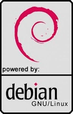 Notebook-Sticker, powered by Debian