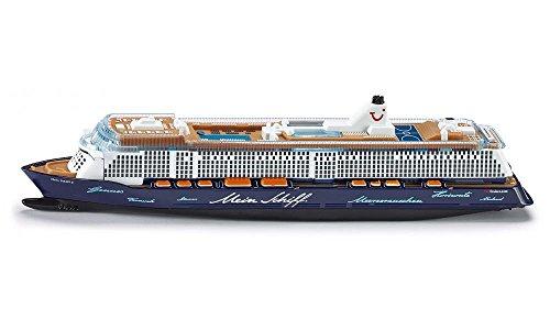 SIKU 1724, Kreuzfahrtschiff Mein Schiff 3, 1:1400, Metall/Kunststoff, Blau/Weiß, Nicht schwimmfähig -