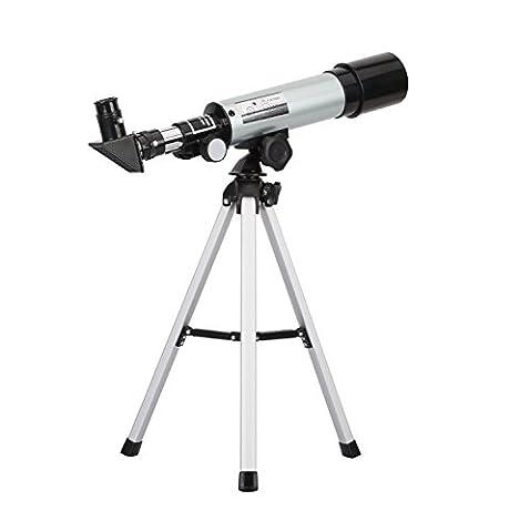 HOOMYA 90X Portable Astronomie Réfraction Télescope, 360X50mm, pour le ciel