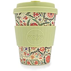 Estampado Floral ecoffee CUP ? Papa FRANCO? 12oz L / 340 ml ? reutilizable Bambú Taza de café
