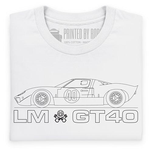 LM GT40 T-shirt, Uomo Bianco