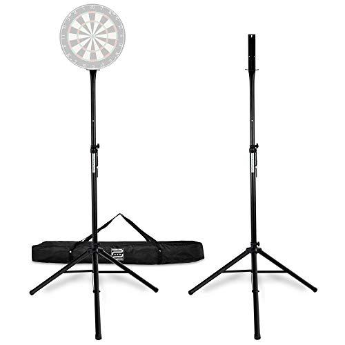 Pronomic DA-45S Ständer für Dartscheibe (Dartboard Halterung, Dartständer aus pulverbeschichtetem Stahl, stufenlos höhenverstellbar, Tasche) schwarz