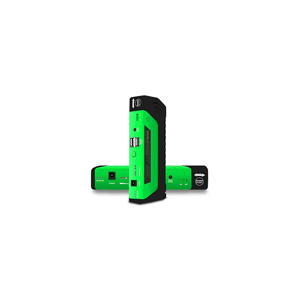41t%2BjoyA2QL. SS1200  - WJJ- Portable Car Jump Starter 16800mAh 12 Voltios 600A Peak Ampere Camión Batería Saltar Starter Pack Hasta 6.0L de gas del vehículo, 4.0L Diesel Car Battery Booster
