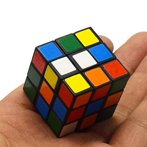 ENCOCO 3x3 Rubik Cube Mini Zauberwürfel Smart Magic Speed Cube für Erwachsene Kinder Party Favor Schulbedarf Puzzle Spiel Set Goody Bag Füller Geburtstagsgeschenk