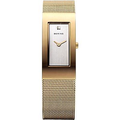 Bering Time Classic - Reloj de cuarzo , correa de acero inoxidable color dorado de Bering Time