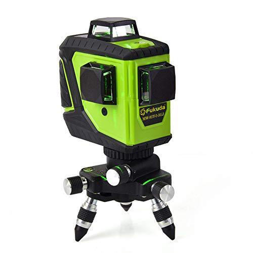 Hengyuanyi 3D 12 líneas MW-93T-2-3GJ li batería Nivel láser Verde Autonivelación 360 Grados Horizontal y Vertical