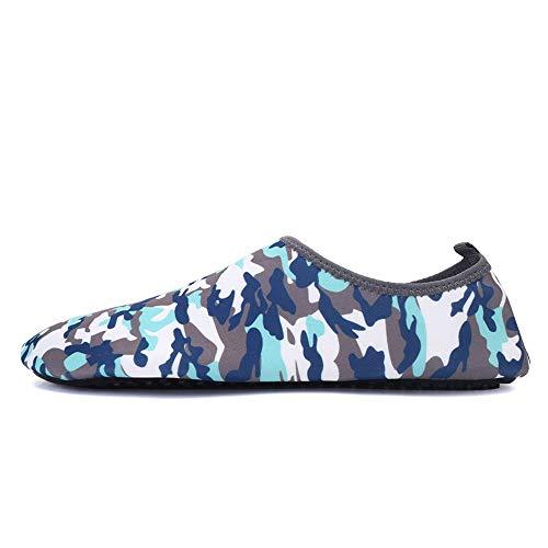 CUTUDE Damen und Herren Klassisch Barfuß Wassersport Skin Schuhe Aqua Socken für Strand Schwimmen Surfen Yoga Übung (Camouflage, 37 EU-38 EU) -