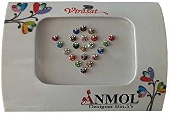 Anmol Virasat Multicolour Small Size Stone Bindis (A_035)