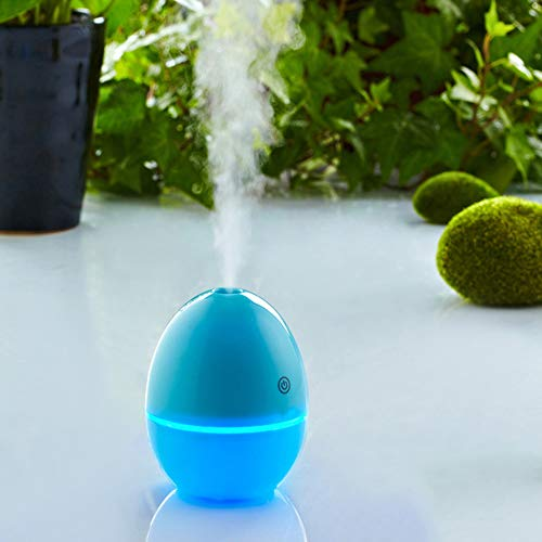 CA&jun Mini humidificador USB, humidificador portátil de atomización por ultrasonidos LED Que Cambia de Color la lámpara para la Oficina del Dormitorio,Blue