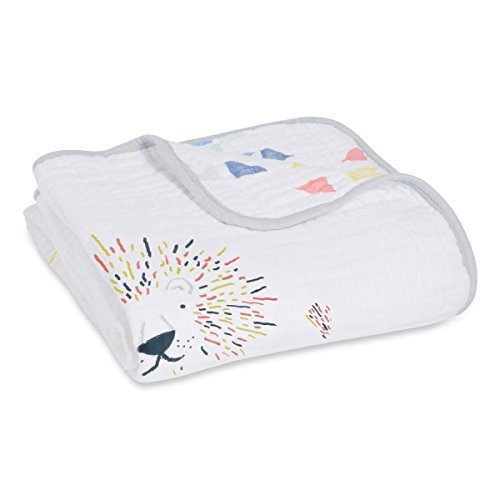 aden + anais dream blanket, 4 layers 100% cotton muslin, 120cm X 120cm, leader of the pack