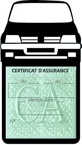 Générique Étui Simple Assurance Peugeot 205 GTI Noir Porte Vignette adhésif Voiture Stickers Auto Retro
