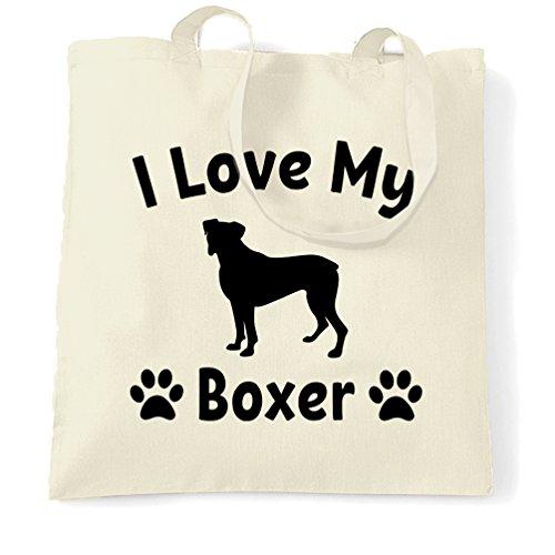 I Love My Lover regalo Boxer Carino adorabile Sacchetto Di Tote Natural