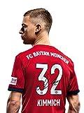 FC Bayern München Trikot Home, Joshua Kimmich, Rückennummer mit Unterschrift auf Flock, Jersey 18/19 Größe M