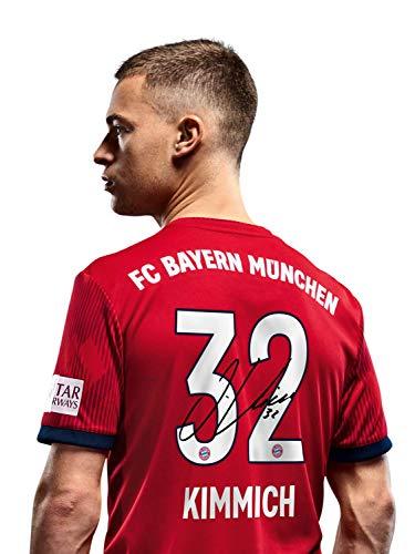 FC Bayern München Trikot Home Kinder, Kimmich, Rückennummer mit Unterschriften Flock, Jersey 18/19 Größe 152