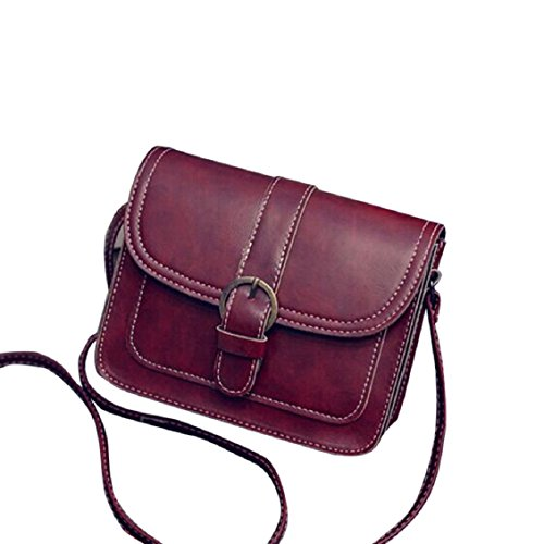 Transer Women Shoulder Bag Popular Girls Hand Bag Ladies PU Leather Handbag, Borsa a spalla donna 19cm(L)*14(H)*7cm(W), Black (Multicolore) - YLL60909521 Red