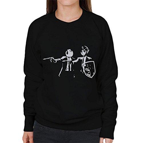 Legend Of Zelda Link Cucco Pulp Fiction Women's Sweatshirt (Womens Sweatshirt Mia)