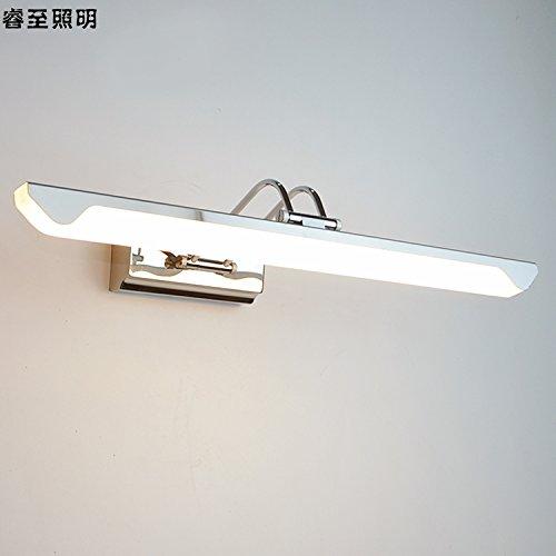 Faros decorativos caseros del espejo, lámpara de tabla simple del apósito, luces de afeitar antiniebla, luces delanteras del espejo del cuarto de baño,Largo 53cm.