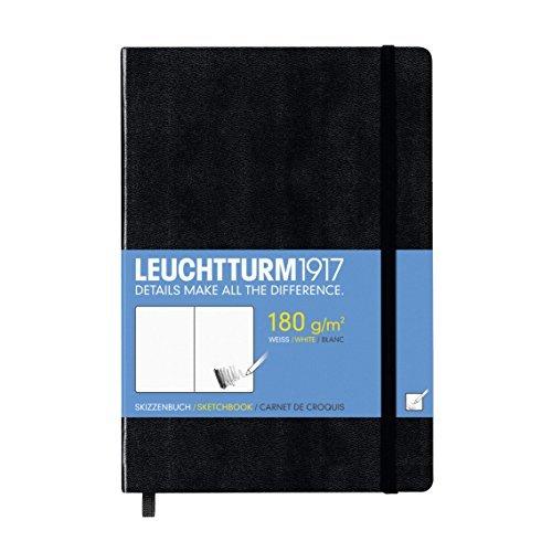 Leuchtturm1917 344668 Skizzenbuch Medium (A5, mit reinweißem, extra starkem 180 g/m² Papier, 96...
