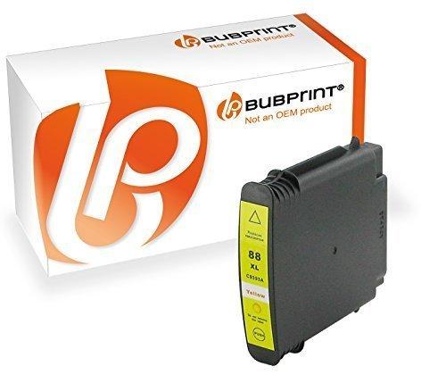 Bubprint Druckerpatrone kompatibel für HP 88XL 88 XL HP88 für OfficeJet Pro K5300 K5400 K550 K8600 L7480 L7500 Series L7580 L7590 L7680 L7780 Gelb 7780 Serie