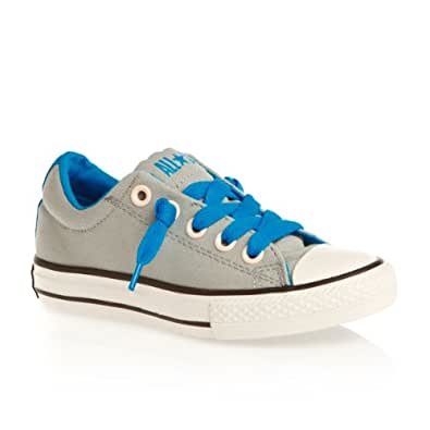 Converse All Star Street Junior Boys Lace Up Canvas Shoes Limestone/Blue 11 UK Junior