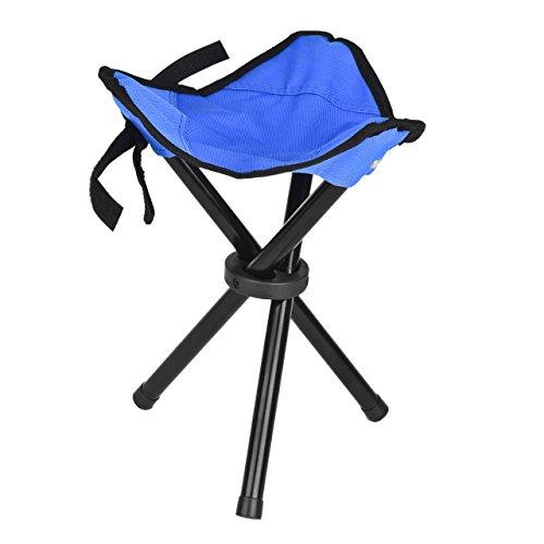 Eyourlife Silla Tripode Taburete Plegable con Tres Patas Portátil Ultraligero para Camping Pesca Caza Picnic Senderismo Barbacoa Deporte al Aire Libre